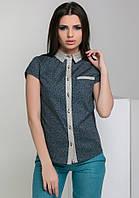 Блуза AZURI 5258-58 S Синяя (2000000038018)