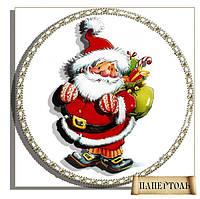 """РТ150073 Набор для создания объемной картины из бумаги (папертоль) """"Дед Мороз с подарками"""""""