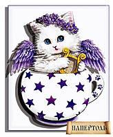"""РТ150093 Набор для создания объемной картины из бумаги (папертоль) """"Кото-чашка Звездочка"""""""