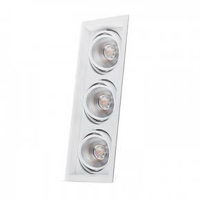 Светильник карданный светодиодный поворотный тройной 20w Feron AL203 3*COB 4000К, фото 2