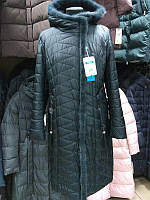 Пуховик пальто больших размеров батал Mishele на верблюжьей шерсти мехом норки 52, 54, 56, 58, фото 1