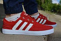 Мужские кеды Адидас  Adidas Gazelle красные, копия, фото 1