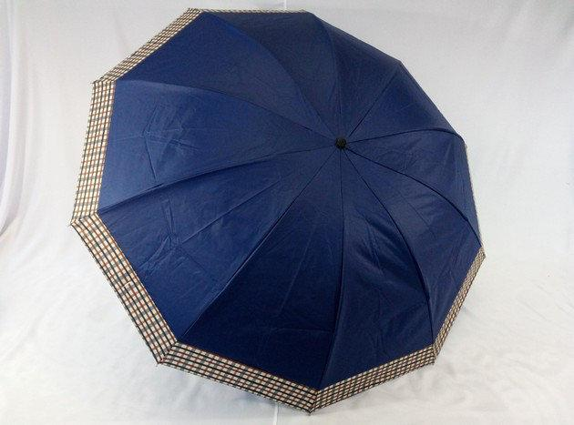 Зонт унисекс с выворотной системой сложения на 10 спиц цвет т\синий