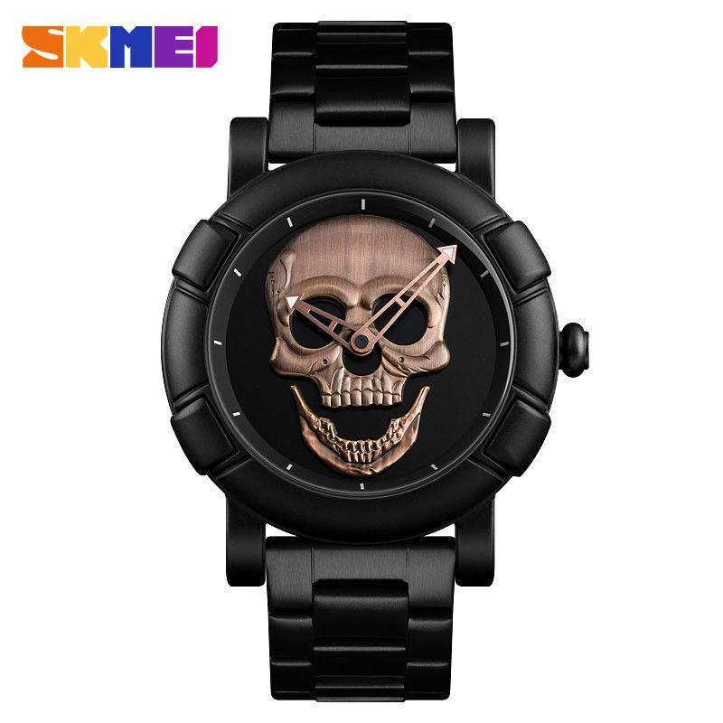 Мужские наручные часы Skmei 9178 Skull в стиле Philipp Plein