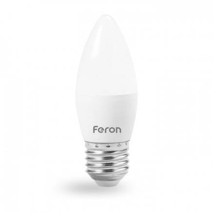 Світлодіодна лампа свічка Е27 4W 2700К і 4000К Feron LB-720, фото 2