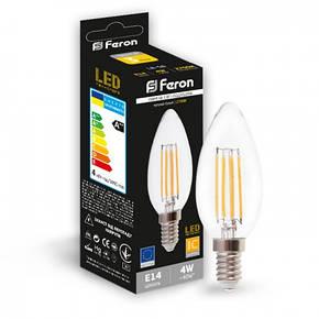Светодиодная лампа свеча Е14 4W Feron LB-58, фото 2