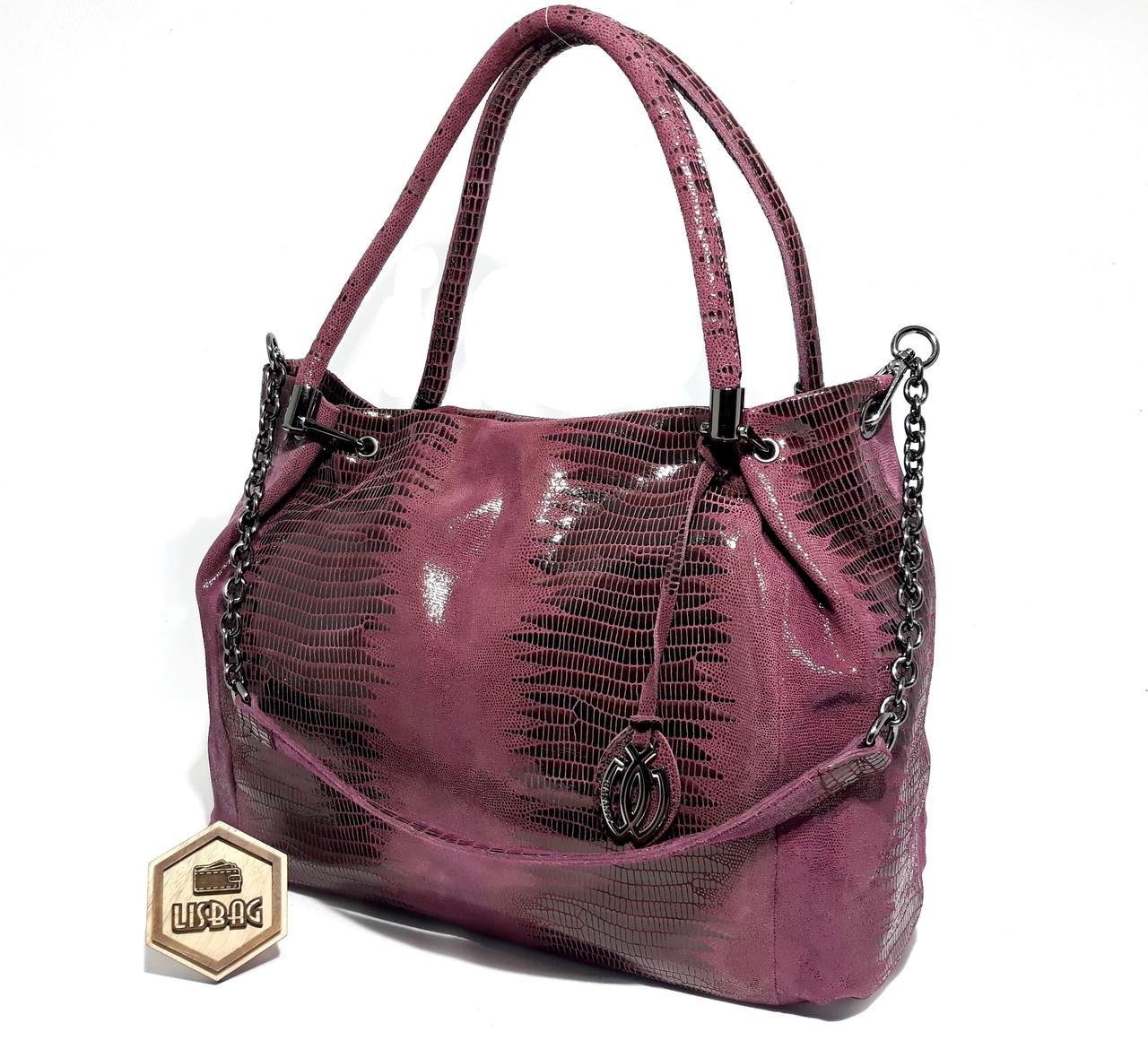 Женская сумка из натурального замша модель 2018 года Galanty ... 5f560be9648