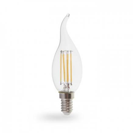 Светодиодная лампа свеча на ветру Е14 4W Feron LB-59, фото 2