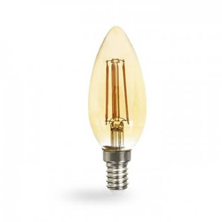 Светодиодная лампа свеча Е14 4w Feron LB-58 золото, фото 2