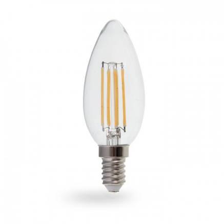 Светодиодная лампа свеча диммируемая Е14 4W Feron LB-68, фото 2