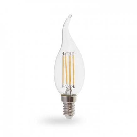 Светодиодная лампа свеча на ветру диммируемая Е14 4W Feron LB-69, фото 2