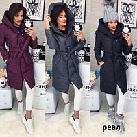 Пальто женское стеганное теплое Кира 5884