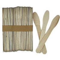 Шпатель лопатка - ложка косметологический YRE деревянный 50 шт. 12,5 см