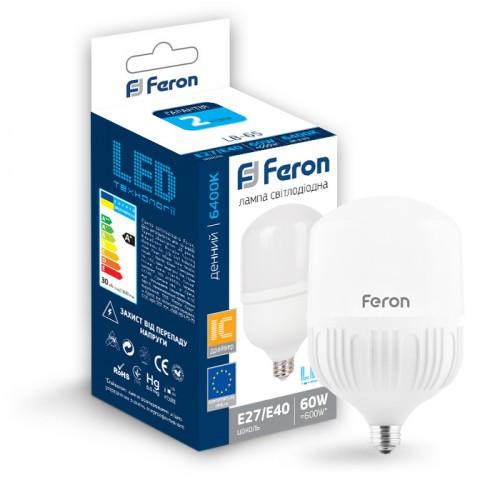 Светодиодная лампа 60W Е27-Е40 Feron LB-65