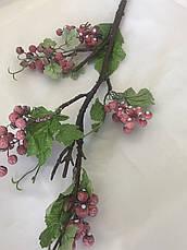 Искусственная ветка с ягодами.Декоративная ветка., фото 2