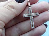 Серебряный позолоченный крест, фото 5