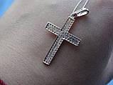 Серебряный позолоченный крест, фото 6