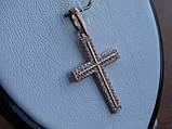 Серебряный позолоченный крест, фото 7