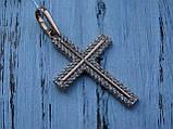 Серебряный позолоченный крест, фото 10