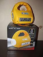Фонарь с радио на солнечной батарее, светодиодная лампа GD- 7655 с USB и mр3 разъемом, фото 1