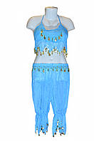 Костюм для восточных танцев взрослый голубой, фото 1