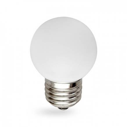 Светодиодная лампа 1w G45 E27 Feron LB-37 белая, фото 2