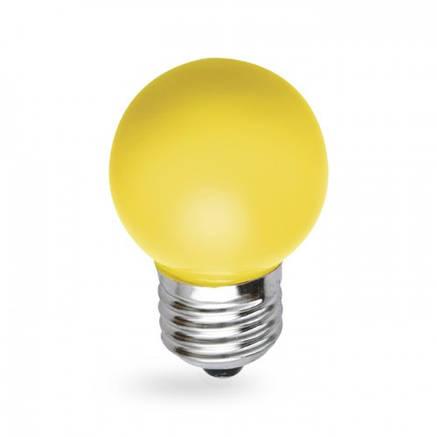 Светодиодная лампа 1w G45 E27 Feron LB-37 желтая, фото 2