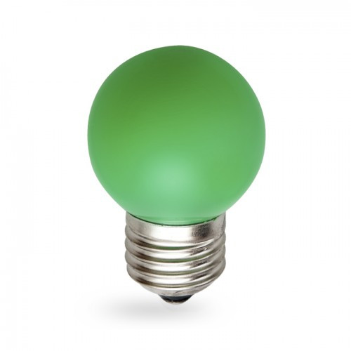Светодиодная лампа 1w G45 E27 Feron LB-37 зеленая