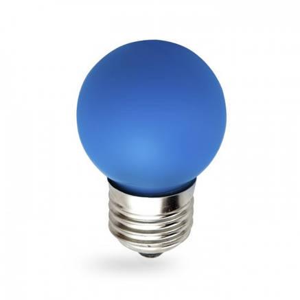 Светодиодная лампа 1w G45 E27 Feron LB-37 синяя, фото 2