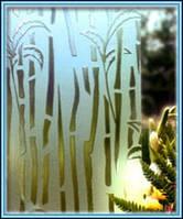 Стекло узорчатое Бамбук бесцветное с прирезкой в размер
