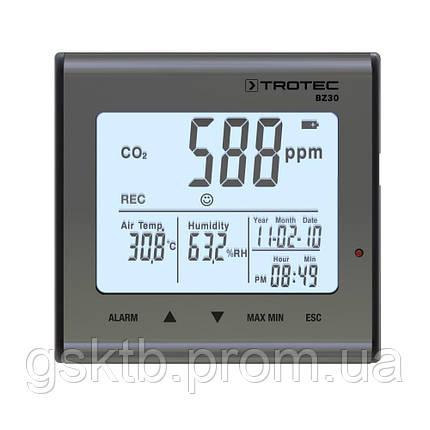 Регистратор температуры, влажности и СО2 Trotec BZ30  (Германия), фото 2