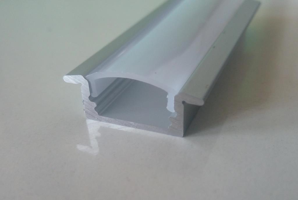 Врізний алюмінієвий профіль разом з розсіювачем 2 м для LED стрічки АЛ-01