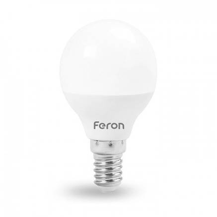 Светодиодная лампа G45 6W Е14 Feron LB-745, фото 2