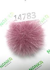 Меховой помпон Песец, Лиловый, 10 см,14783, фото 3