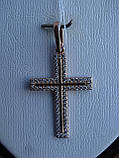 Серебряный позолоченный крест, фото 2