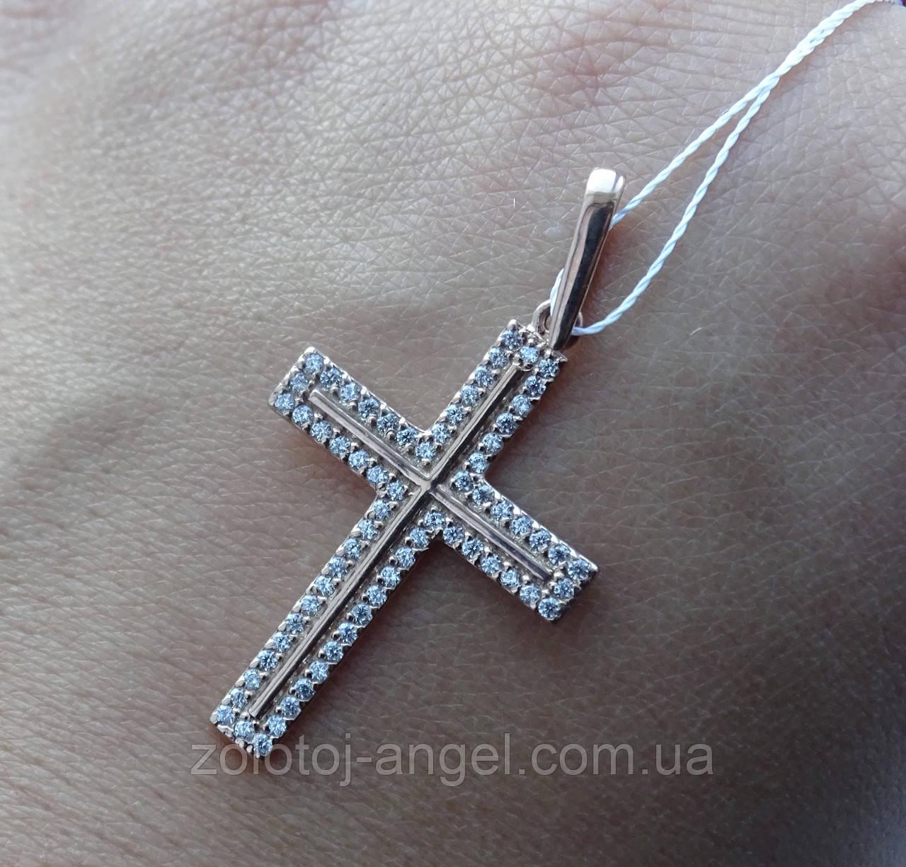 Серебряный позолоченный крест