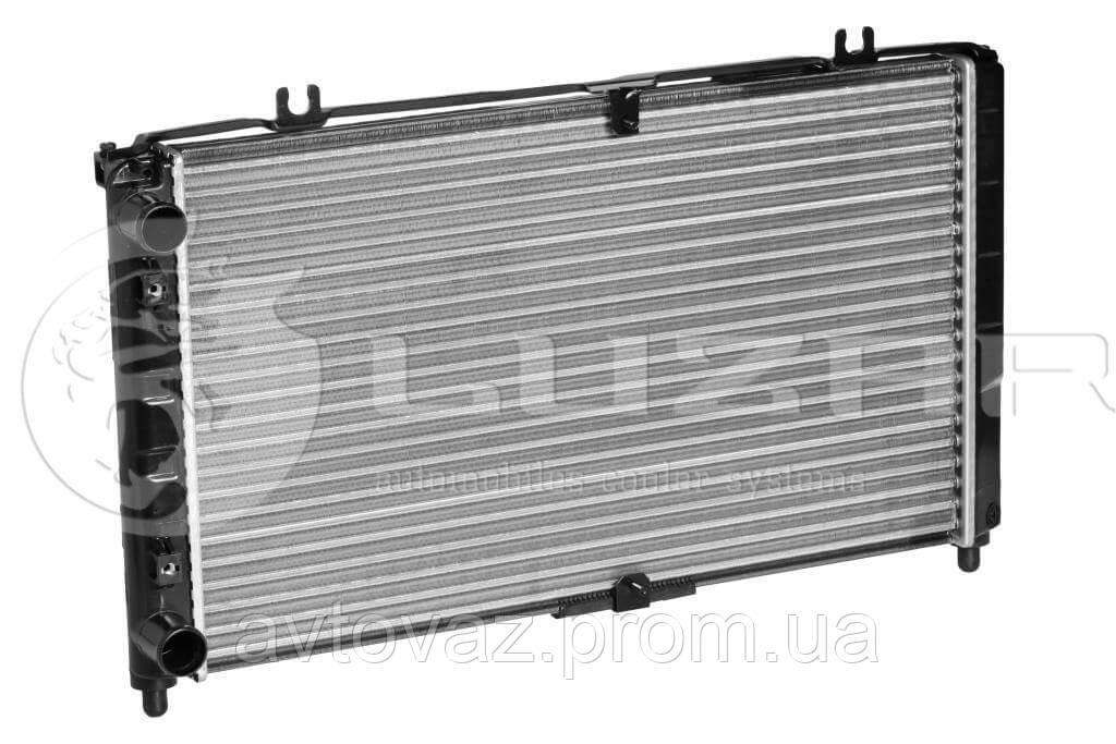 Радіатор Panasonic ВАЗ 2170, 2171, 2172 Пріора з кондиціонером (алюм-паяний) (LRc 01272b) ЛУЗАР