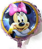Фольгированный шарик Минни Маус, 45*45 см