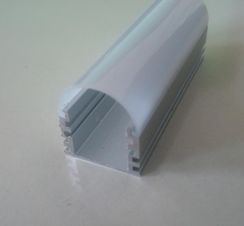 Накладний алюмінієвий профіль разом з розсіювачем 2 м для LED стрічки АЛ-02