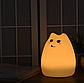 Светильник ночник  Милая Кошечка силиконовый, фото 3