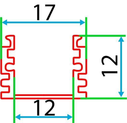 Накладний алюмінієвий профіль разом з розсіювачем 2 м для LED стрічки АЛ-02, фото 4