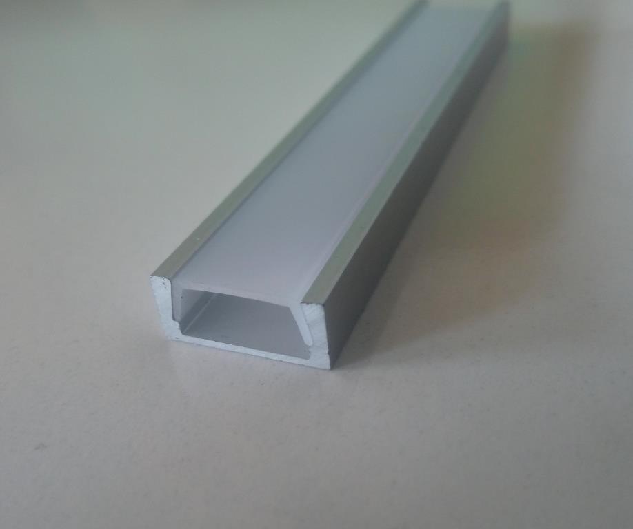 Накладний алюмінієвий профіль разом з розсіювачем 2 м для LED стрічки АЛ-02-2, фото 1