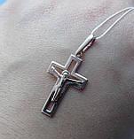 Серебряный позолоченный крест, фото 4