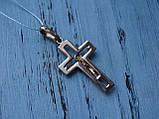 Серебряный позолоченный крест, фото 3