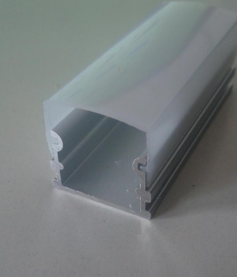 Накладний алюмінієвий профіль разом з розсіювачем 2 м для LED стрічки АЛ-02-3