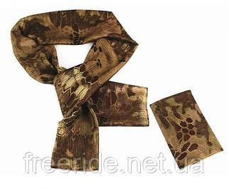 Тактический маскировочный сетчатый шарф (армейский) шкура кобры