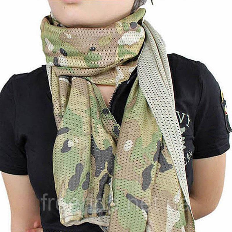 Тактический маскировочный сетчатый шарф (армейский)