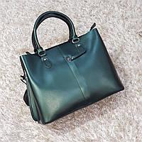 Женская зеленая сумочка из натуральной кожи, фото 1