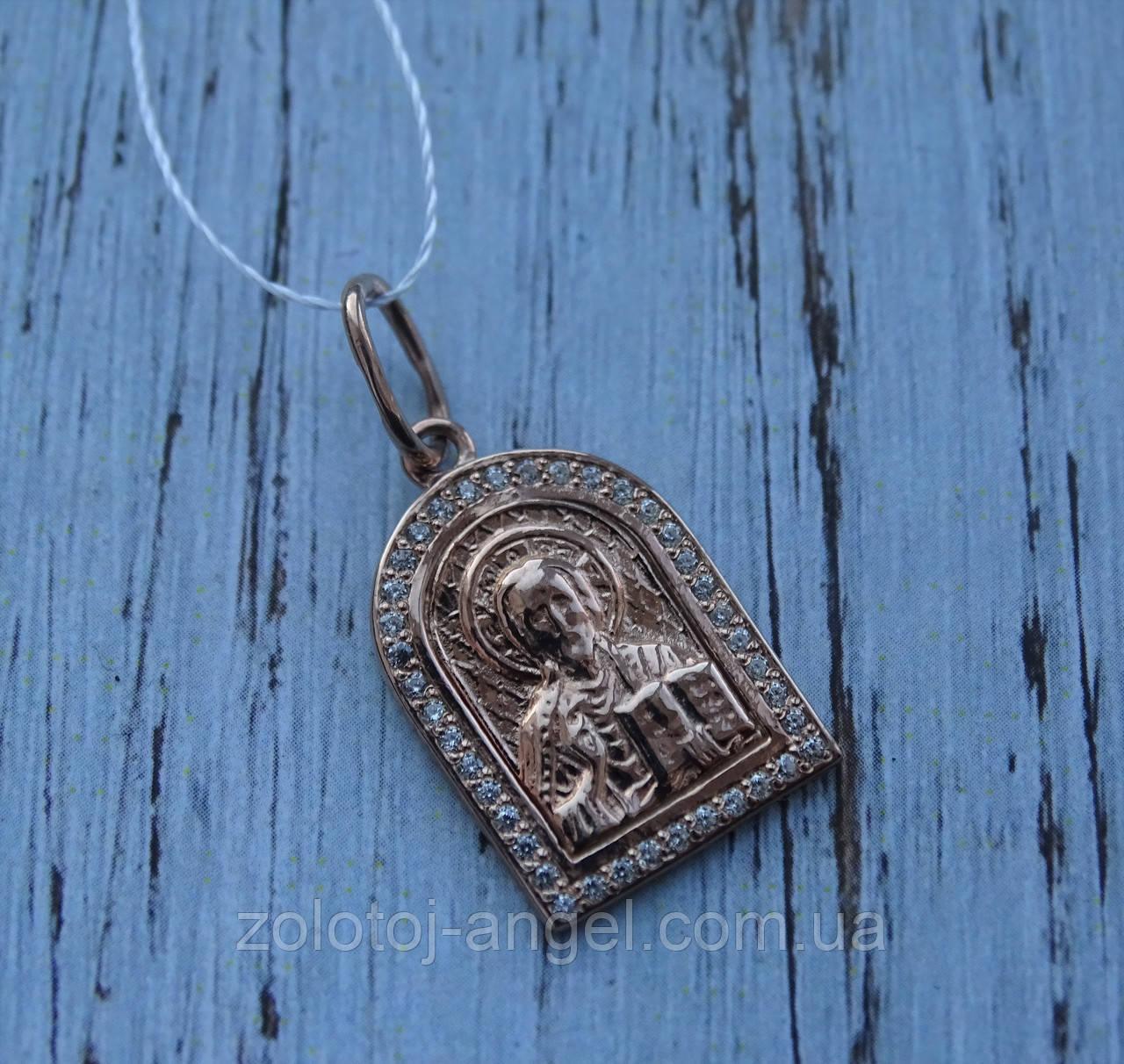"""Серебряная позолоченая икона """"Иисус Христос"""""""