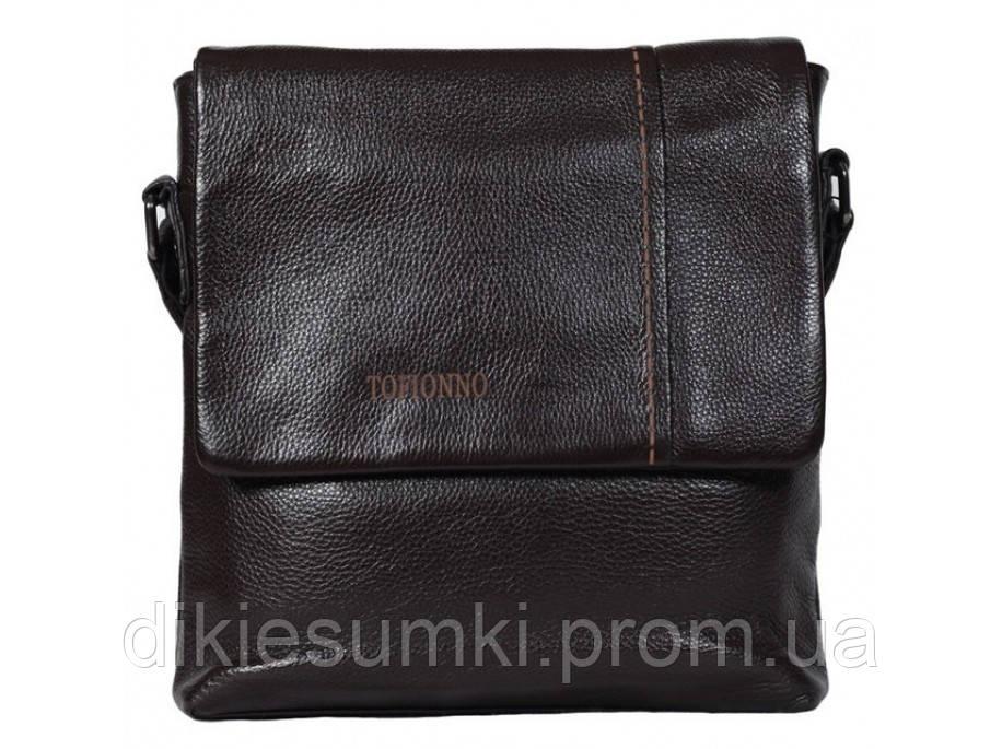 d39ca7c7c5f Мужская кожаная сумка на плечо мессенджер Tofionno 619-299 BROWN - Интернет  магазин - Дикие